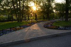 Green parks in Poland Royalty Free Stock Photography