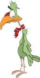 Green parrot. Cartoon Stock Photos