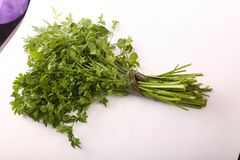 Green Parsley Pack. On white background Royalty Free Stock Photo