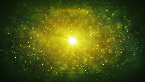 Green particles blizzard abstract background Royalty Free Stock Images