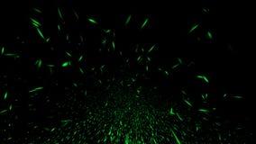 Green particles sparkle spray debris. Overlays texture background. Design element royalty free illustration