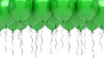 Green party balloons. On white background Stock Photo