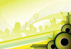 Green party design Stock Photography