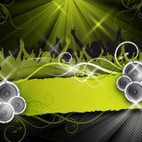 Green  party design Royalty Free Stock Images