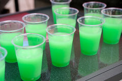 Green Party Drinks Royalty Free Stock Image