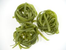 Green pasta Stock Photos