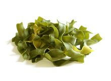Green pasta isolated on white Royalty Free Stock Photo