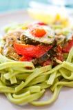 Green pasta Royalty Free Stock Photography