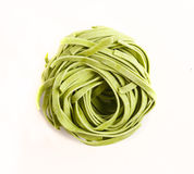 Green pasta. Royalty Free Stock Images