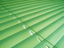 Green Pastel Blinds. Pastel green plastic venetian blinds Stock Photography