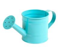Green pastel color gardening watering pot Stock Photos