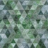 Green pastel patchwork polygonal triangle continuous pattern. vector illustration