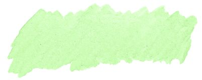 Green pastel watercolor hand-drawn isolated wash stain on white background. For text, design. Abstract texture made by brush for wallpaper, label royalty free illustration