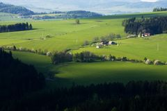 Green pastures Royalty Free Stock Photos