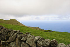 Green pastures of Pico, Azores Royalty Free Stock Image