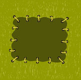 Green patch. Vector illustration Royalty Free Stock Photography