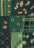 Green patchwork. My handmade green quilt pattern Royalty Free Stock Photos