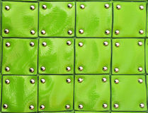 Green patent Leather squares Royalty Free Stock Photos