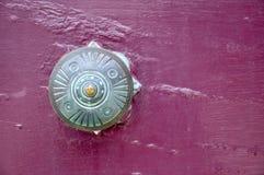 Green Patina: Antique Door Handle Royalty Free Stock Photo
