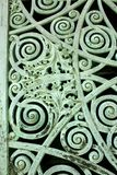Green Patina Door Panel Royalty Free Stock Images