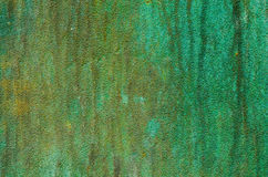 Green patina metal texture Stock Images