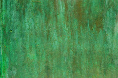 Green patina metal texture Stock Photos