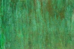Green patina metal texture. Background Stock Photos