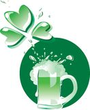 Green Patrick's beer Royalty Free Stock Photos