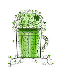 Green Patrick's beer for your party Royalty Free Stock Photography