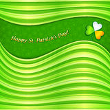 Green Patrick's Day abstract background card. Green Patrick's Day abstract background greeting card royalty free illustration