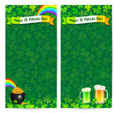 Green Patrick's day flyer vector templates Stock Photos