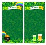 Green Patrick's day flyer vector templates Stock Photos