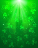 Green Patricks day background Stock Image