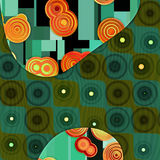 Green pattern Stock Images