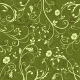 Green pattern. Elegant floral pattern in green Royalty Free Stock Photography