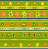 Green pattern. Vector illustration of green floral pattern Royalty Free Stock Photos
