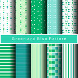 10 green pattern abstract background vector. 10 green variety pattern abstract background vector vector illustration