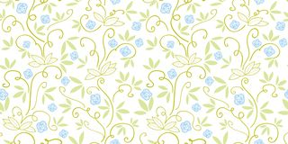 Green pattern with abstract plant. royalty free illustration