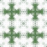 Green pattern background symmetry kaleidoscope. kalamkari. Green pattern background symmetry kaleidoscope geometric texture. kalamkari royalty free illustration