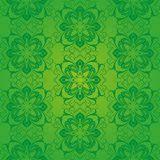 Green pattern baroque Stock Image