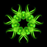 Green pattern on the black background Stock Image