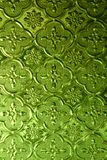 Green Pattern Glass. Green Pattern Window Glass Asian Style Royalty Free Stock Photos