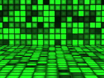 Green pattern made out of Light Cubes Royalty Free Stock Image