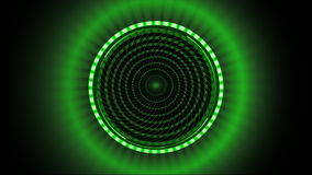 Green pattern made of squares spinning against black background stock video