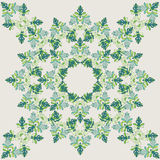 Green pattern for  pillow Royalty Free Stock Image