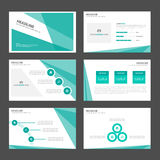 Green pattern presentation template Infographic elements and icon flat design set advertising marketing brochure flye Stock Photos