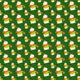 Green pattern with Santa Claus . Stock Photo
