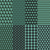 Green Pattern set. With geometric Stock Images