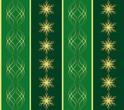 Green pattern with snowflakes - vector Royalty Free Stock Images