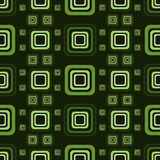 Green pattern from squares Stock Images